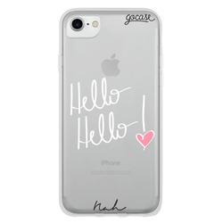 Capinha para celular Hello Hello Branca By Nah Cardoso