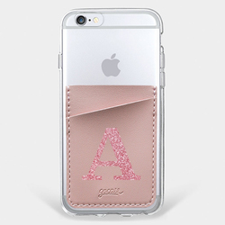 Pocket Gocase Rosê - Iniciais Glitter