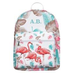 Mochila Gocase Bag - Flamingo Floral Iniciais