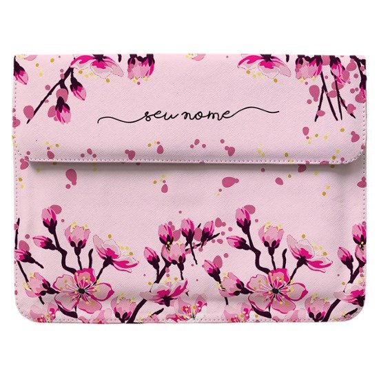 Case Clutch Notebook - Flor de Cerejeira Manuscrita