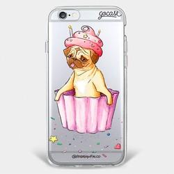 Capinha para celular Pug Cake