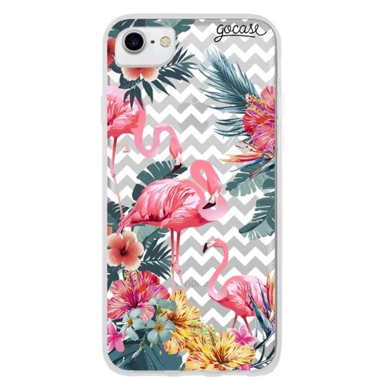 Capinha para celular Flamingos Decor