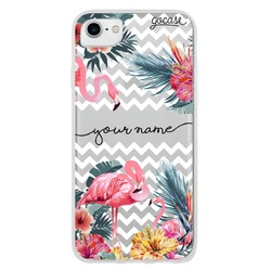 Flamingos Decor Handwritten Phone Case