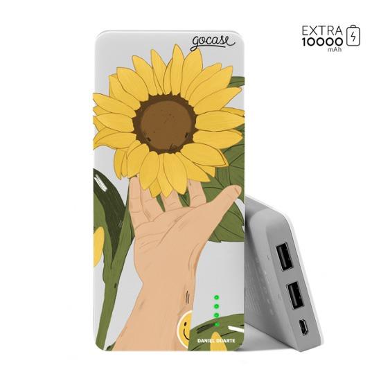 Carregador Portátil Power Bank (10000mAh) - Flor de Girassol