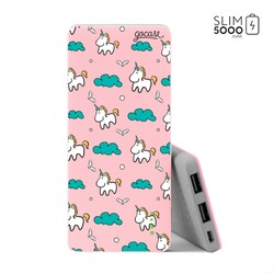 Power Bank Slim Portable Charger (5000mAh) Pink - Pink Unicorn