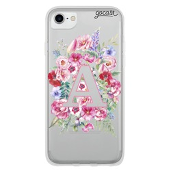 Capinha para celular Iniciais em Flor - Clean