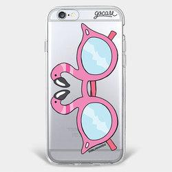 Capinha para celular Óculos Flamingos