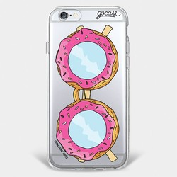 Capinha para celular Óculos Donut