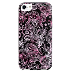 Black Case  Pink Watercolor Phone Case