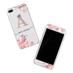 Kit Flamingo Glitter (Película Customizada Branca + Capinha)