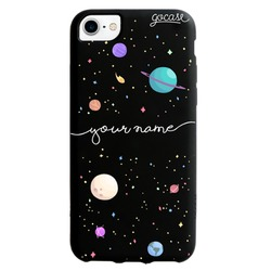 Cover Black Case Planets Handwritten