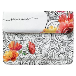 Case Clutch Notebook - Arabescos Florais Manuscrita