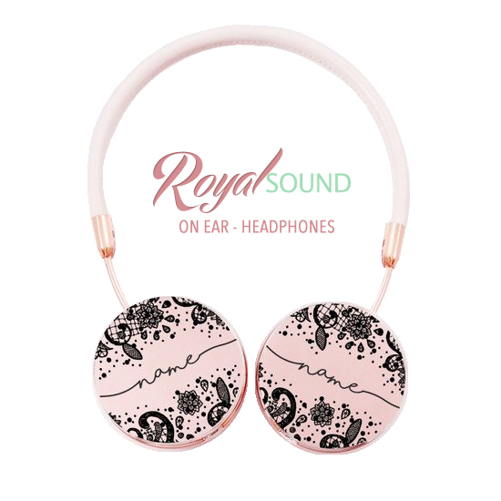 Royal Sound Headphones - Black Lace Handwritten