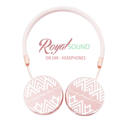 Royal Sound Headphones - White Diamonds Handwritten
