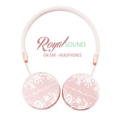 Royal Sound Headphones - White Lace Handwritten
