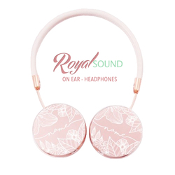 Royal Sound Headphones - White Floral Handwritten