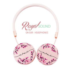 Royal Sound Headphones - Cherry Blossoms Handwritten