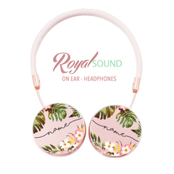 Royal Sound Headphones - Floral Handwritten