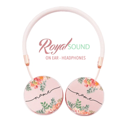 Royal Sound Headphones - Floral Pink Handwritten