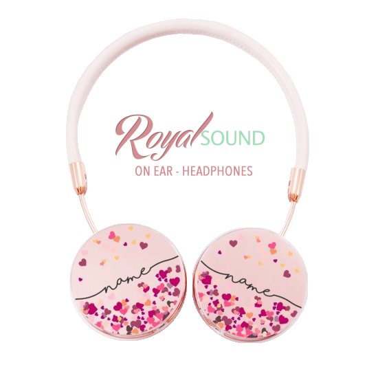 Royal Sound Headphones - Hearts Handwritten