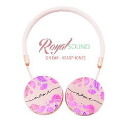 Royal Sound Headphones - Purple And Pink Handwritten