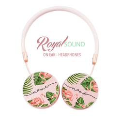 Royal Sound Headphones - Tropical Flower Handwritten