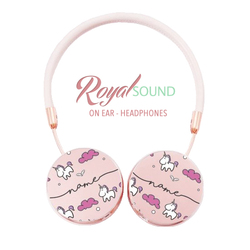Royal Sound Headphones - Pink Unicorns Handwritten