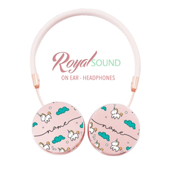 Royal Sound Headphones - Unicorns Handwritten