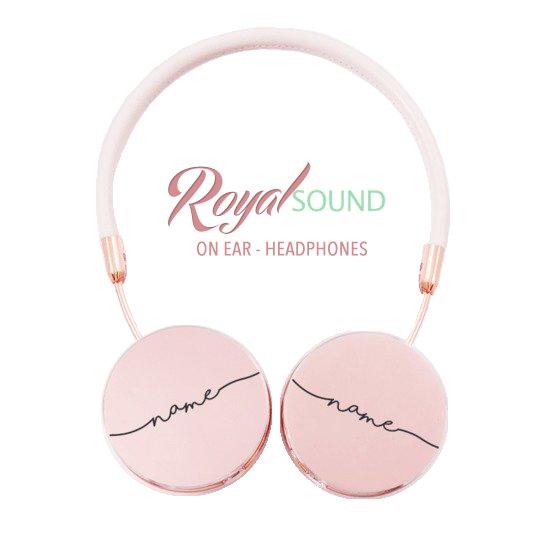 Royal Sound Headphones - Handwritten