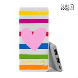 Power Bank Slim Portable Charger (5000mAh) - Happy Love