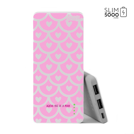 Power Bank Slim Portable Charger (5000mAh) - Pattern Love