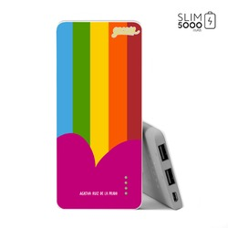 Power Bank Slim Portable Charger (5000mAh) - Colorful Stripes