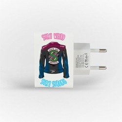 Customized Dual Usb Wall Charger for iPhone and Android - Stay Strong