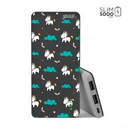 Power Bank Slim Portable Charger (5000mAh) Black - Unicorn