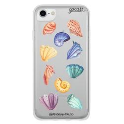 Capinha para celular Conchas em Aquarela