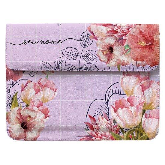 Case Clutch Notebook - Floral Aquarela Manuscrita