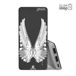 Power Bank Slim Portable Charger (5000mAh) Black - Angel