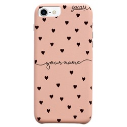 Royal Rose - Pattern Black Hearts Handwritten Phone Case
