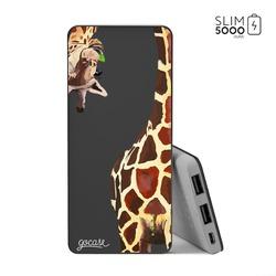 Power Bank Slim Portable Charger (5000mAh) Black - Giraffe