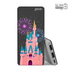 Power Bank Slim Portable Charger (5000mAh) Black - Enchanted Castle