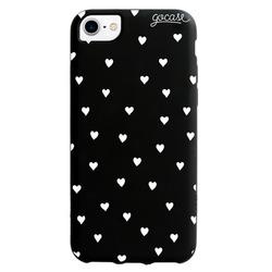 Black Case Pattern White Hearts Phone Case