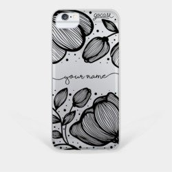 Line Flowers Phone Case