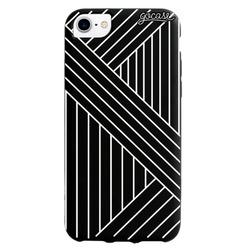 Black Case Geometric Stripes  Phone Case