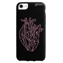 Black Case Geometric Heart Phone Case