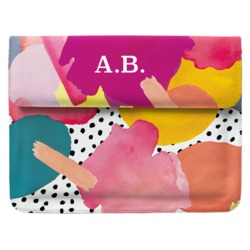 Case Clutch Notebook - Aquarela Abstrata
