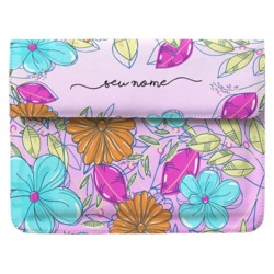 Case Clutch Notebook - Floral Colorido Manuscrita