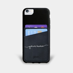 Black Pocket Case Handwritten Phone Case
