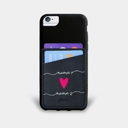 Black Pocket Case - Forever Love Handwritten Phone Case