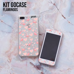 Kit Flamingos (Skin Custom White + Case)