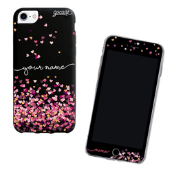 Kit Hearts Handwritten (Black Case + Screen Protector Black)
